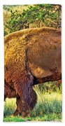 Buffalo Custer State Park  Beach Towel