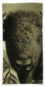 Buffalo Head Beach Towel
