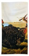 Buffalo Hunt, 1862 Beach Towel