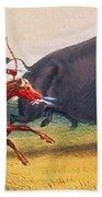 Buffalo Hunt, C1832 Beach Towel