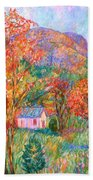 Buffalo Mountain In Fall Beach Towel