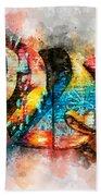 Bug Watercolor Beach Towel