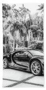 Bugatti Chiron 5 Beach Towel