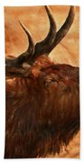 Bugling Bull Elk Autumn Background Beach Towel