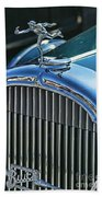 Buick Grill And Hood Ornament Beach Towel
