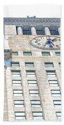Building Closeup In Manhattan 11 Beach Towel