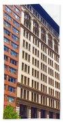 Building Closeup In Manhattan 5 Beach Towel