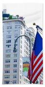 Building Closeup In Manhattan 9 Beach Towel