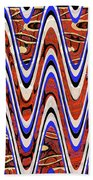 Building With Reflections Abstract Beach Towel