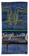 Built Ford Tough With Chevy Stuff Beach Towel