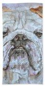 Bulldog - Watercolor Portrait.5 Beach Towel