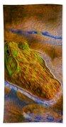 Bullfrog In Water Beach Towel
