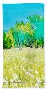 Texas Bull Nettle Beach Towel
