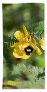 Bumblebee Deep Into Work Beach Sheet
