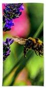 Bumble Bee In Flight Beach Towel