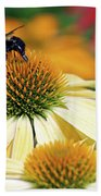 Bumble Bee On Top Beach Towel