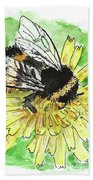 Bumblebee Beach Towel