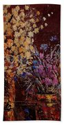Bunch Of Dried Flowers  Beach Towel