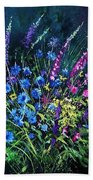 Bunch Of Wild Flowers Beach Towel