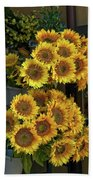 Bunches Of Sunflowers Beach Towel
