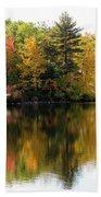 Bunganut Lake Maine Foliage 10 2016 Beach Towel