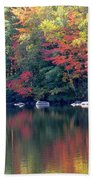Bunganut Lake Maine Foliage 13 2016 Beach Towel