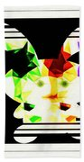 Bunny In Abstract Beach Towel