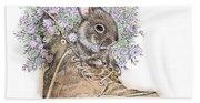 Bunny In Boot Beach Sheet