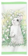 Bunny In White Beach Towel