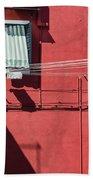 Burano Facade Beach Towel