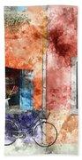 Burano Italy Digital Watercolor On Photograph Beach Towel