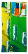Burano Reflections Beach Towel