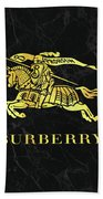 Burberry - Black And Gold - Lifestyle And Fashion Beach Towel
