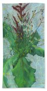 Burdock Leaves  Beach Towel