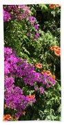 Burgazada Island Flower Color Beach Towel