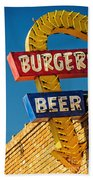 Burgers And Beer Beach Towel