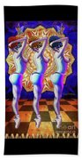 Burlesque Dancers Act One Beach Towel