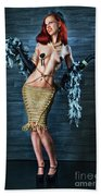 Burlesque Lady - Fine Art Of Bondage Beach Towel