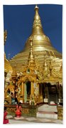 Burma's Golden Pagoda Beach Towel