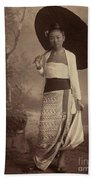 Burmese Lady  Beach Towel
