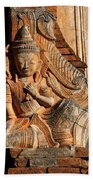 Burmese Pagoda Sculpture Beach Towel