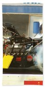 Burn Out On The Track Beach Towel