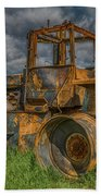 Burned Out Farm Tractor Beach Towel