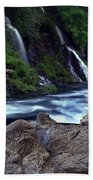 Burney Falls Creek Beach Towel