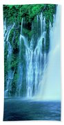Burney Falls Mcarthur Burney State Park California Beach Towel