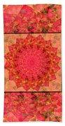 Burning Bush Floral Design  Beach Towel