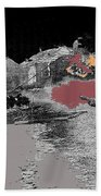 Burning House Destroyed By The Ss Soviet Union Number One 1941 Color Added 2016 Beach Towel