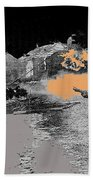 Burning House Destroyed By The Ss Soviet Union Number Two 1941 Color Added 2016 Beach Towel