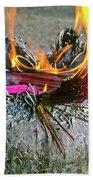 Burning Joss Sticks Beach Towel