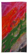 Burning Lava Beach Towel